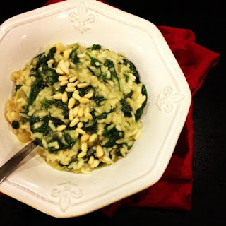 Spinach Risotto with Pine Nuts