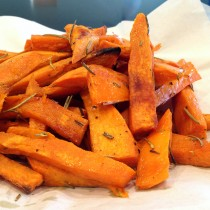 Baked sweet potato fries with rosemary