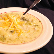 Creamy Potato Broccoli Soup with Cheese